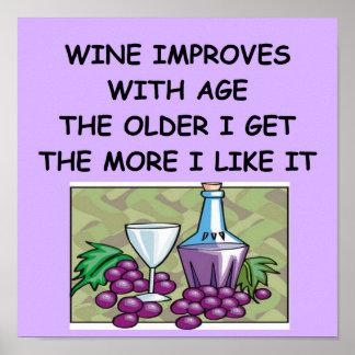degustación de vinos póster