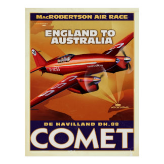 deHavelland DH88 Comet Air Racer Posters