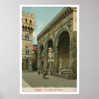 Dei Lanzi de la logia de la acuarela de Florencia  Posters