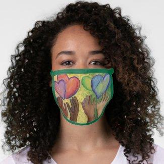 DEI Love Hearts Art Inspirational Custom Face Mask