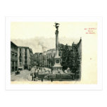 Dei Martiri, vintage de la plaza de Nápoles, Itali Postal