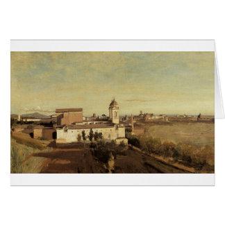 Dei Monti de Trinita del chalet Medici de Camilo Tarjeta De Felicitación