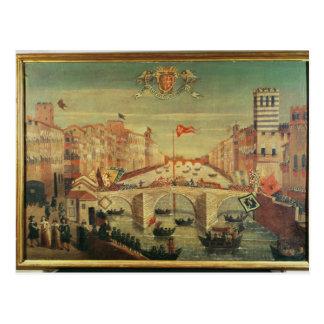 Dei Pisani de IL Gioco del Ponte Tarjetas Postales
