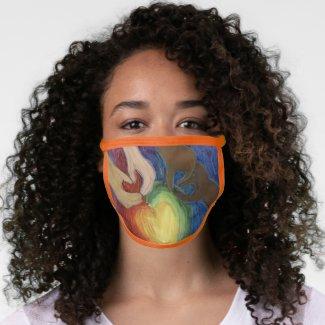 DEI Rainbow Love Hearts Custom Art Face Mask