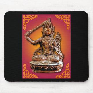 Deidad budista adornada antigua Manjushri Mousepad