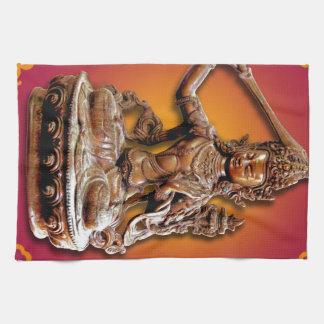 Deidad budista adornada Manjushri Toalla De Cocina