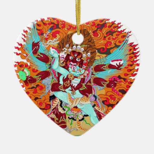 Deidad del budista de Heruka Ornamento De Navidad