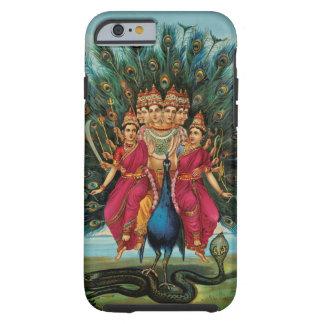 Deidad hindú de Murugan Kartikeyan Skanda Funda Para iPhone 6 Tough