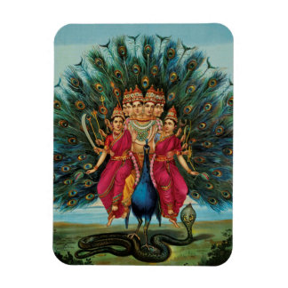 Deidad hindú de Murugan Kartikeyan Skanda Subrahma Imán Foto Rectangular