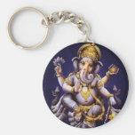 Deidad hindú del elefante asiático de Ganesh Llavero Redondo Tipo Pin