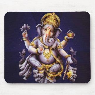 Deidad hindú del elefante asiático de Ganesh Mouse Pads