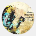 Deidad hindú del elefante asiático de Ganesh Pegatina Redonda