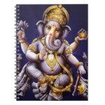 Deidad hindú del elefante asiático de Ganesh Spiral Notebooks