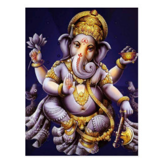 Deidad hindú del elefante asiático de Ganesh Tarjetas Postales