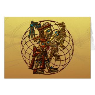 Deidad maya tarjeta de felicitación