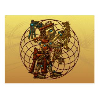 Deidad maya tarjetas postales