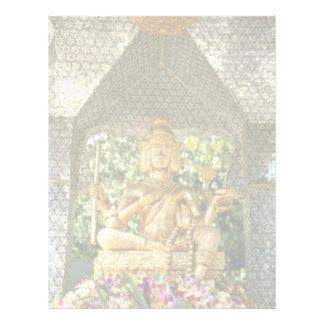 deidades amarillas en templo de tres Buda en H cen Membretes Personalizados