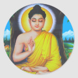 Deidades hindúes y diosas hermosas etiqueta redonda