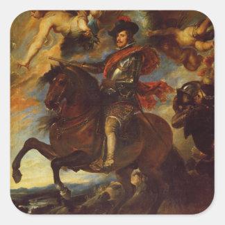 Deigo Velazquez Painting Square Stickers
