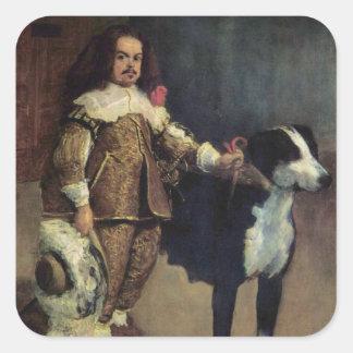 Deigo Velazquez Painting Square Sticker