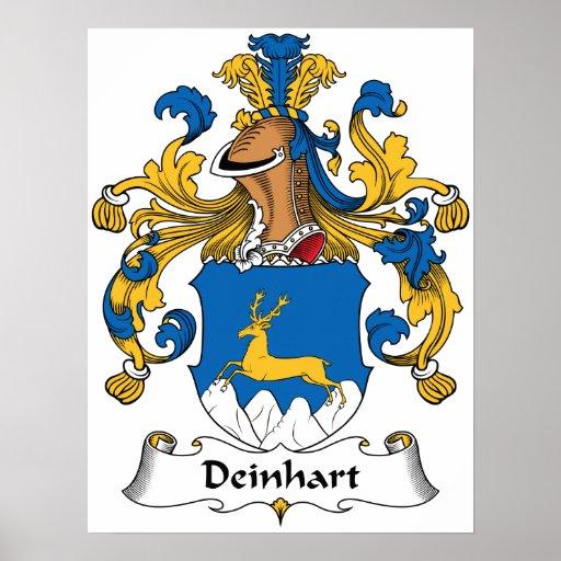 Deinhart Family Crest Poster