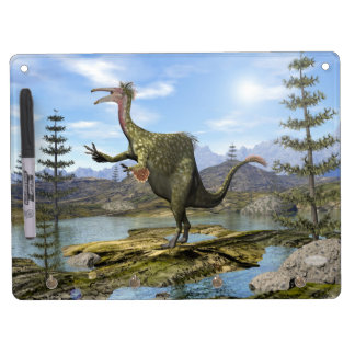 Deinocheirus dinosaur - 3D render Dry Erase Board With Keychain Holder