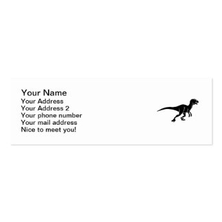 Deinonychus dinosaur Double-Sided mini business cards (Pack of 20)