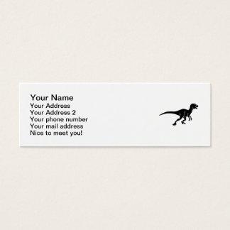 Deinonychus dinosaur mini business card