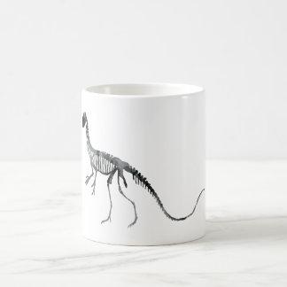 deinonychus skeleton coffee mug