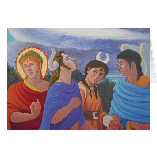 Deities Strolling Card