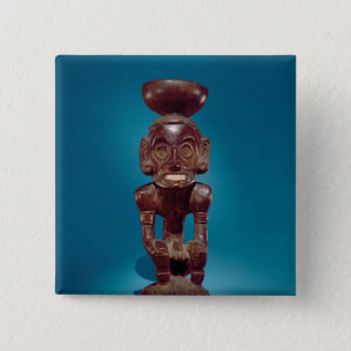 Deity figure , Dominican Republic Pinback Button