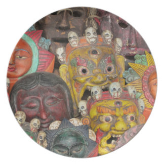 Deity Masks Plate