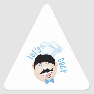 Deja al cocinero pegatina triangular