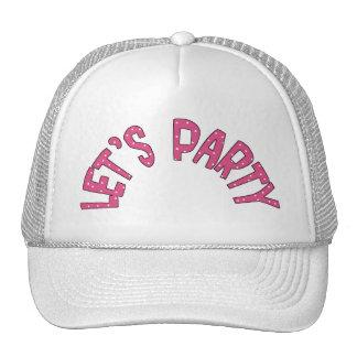 Deja al fiesta toda la materia de niños de los pro gorras de camionero