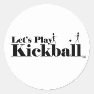 deja al pegatina del kickball del juego
