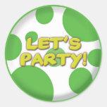 Deja al pegatina verde de los puntos del fiesta