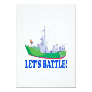 """Deja batalla invitación 5"""" x 7"""""""