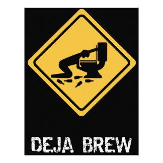 Deja-Brew divertido Membrete A Diseño