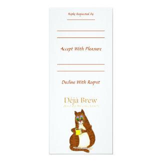 Deja brew 4x9.25 paper invitation card