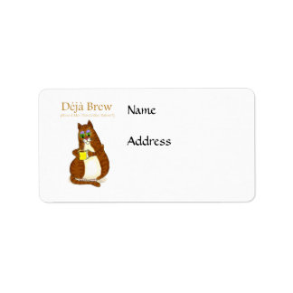 Deja Brew Address Label