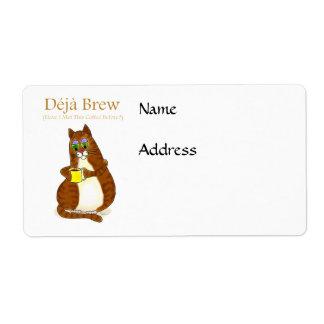 Deja Brew Shipping Label