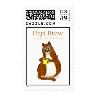 Deja brew postage stamp
