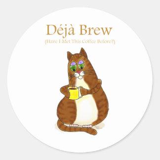 Deja Brew Classic Round Sticker