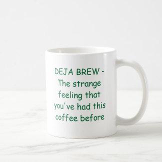 DEJA BREW -The strange feeling that you've had ... Classic White Coffee Mug