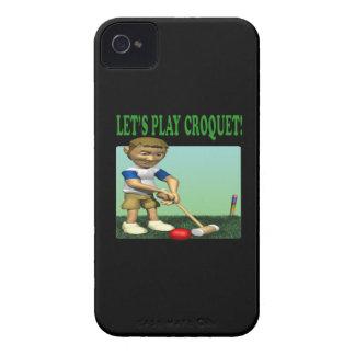 Deja croquet del juego Case-Mate iPhone 4 carcasas