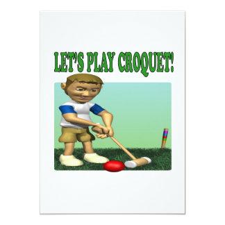 """Deja croquet del juego invitación 5"""" x 7"""""""