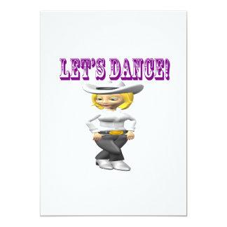 """Deja danza invitación 5"""" x 7"""""""
