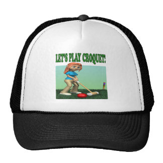 Deja el croquet 2 del juego gorras de camionero