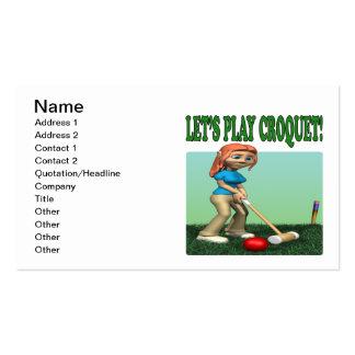 Deja el croquet 2 del juego plantillas de tarjetas personales