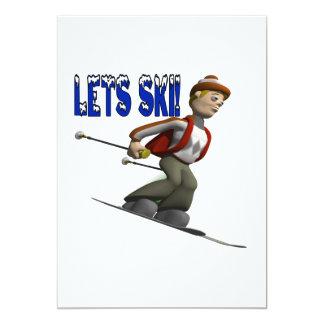 """Deja el esquí invitación 5"""" x 7"""""""